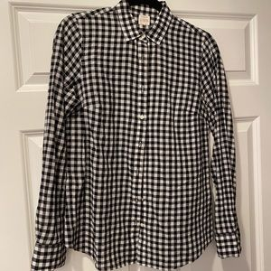 J.Crew Gingham Blouse - Size S
